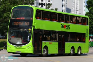 SG5085K on 965 - SMRT Buses Volvo B9TL Wright