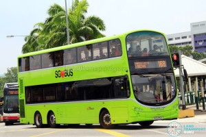 SBST Volvo B9TL (SG5405X) - Service 168