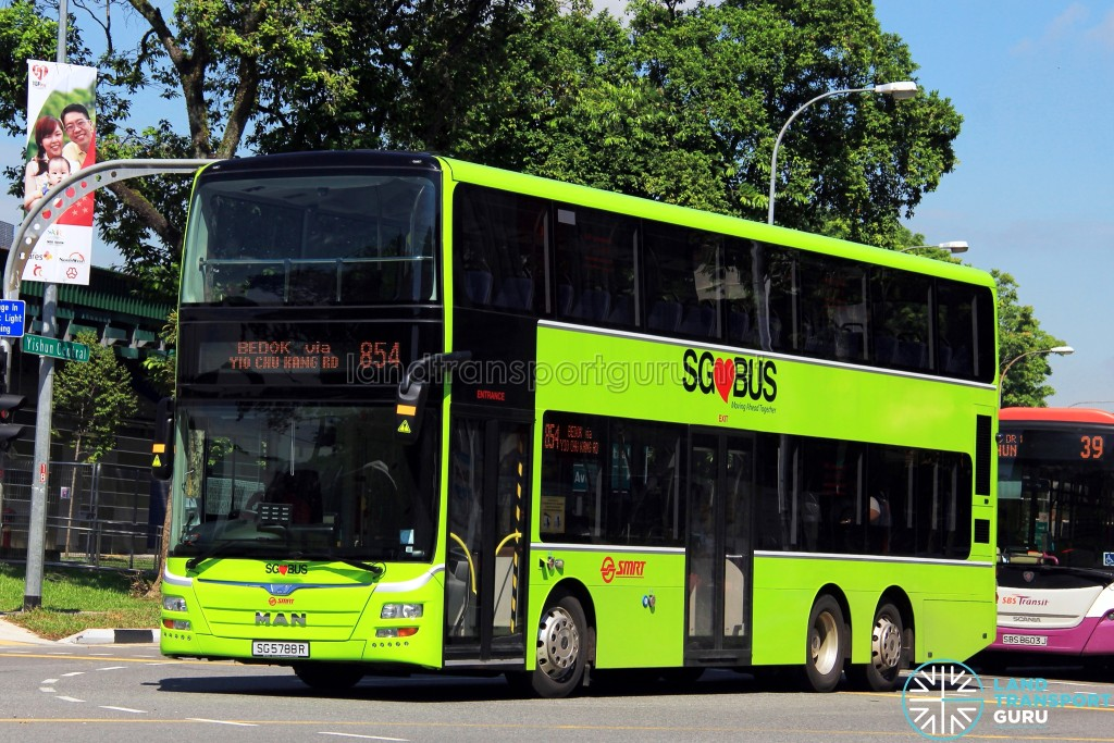 Service 854 is one of 23 bus services under the Sembawang – Yishun Bus Package