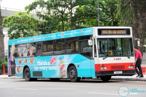 SMRT Mercedes-Benz O405 (TIB597C), with CoolAir EDS