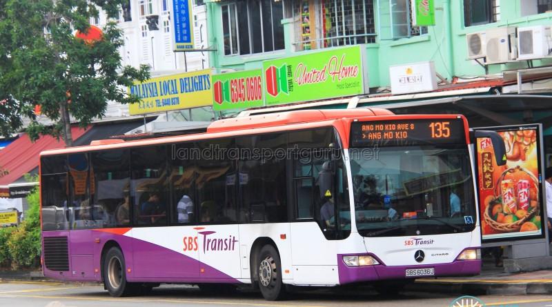 SBS Transit Mercedes-Benz Citaro (SBS6036J) - Service 135