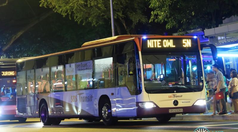 SBST Mercedes-Benz O530 Citaro (SBS6328S) - Nite Owl 5N