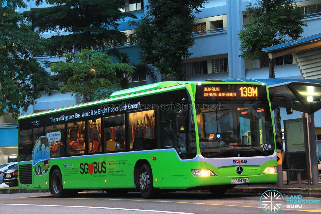 Service 139M is one of 24 bus services under the Bishan–Toa Payoh Bus Package