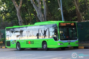 SBST Mercedes-Benz O530 Citaro (SBS6499G) - Service 43 with trial Lush Green livery