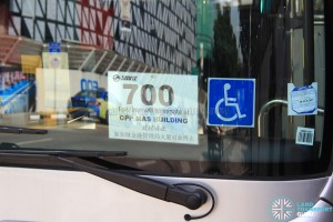 Service 700 terminating at Opp MAS Bldg: Commuter notice