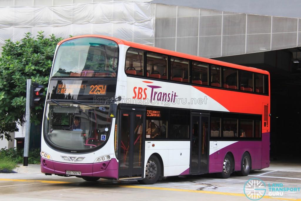 SBS Transit Volvo B9TL Wright (SBS7657K) - Service 225W