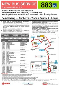 Service 883 Route Poster