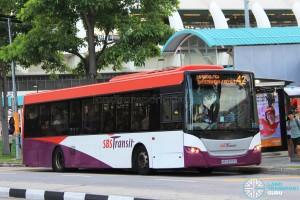 SBS Transit Scania K230UB Euro V (SBS8909C) - Service 42