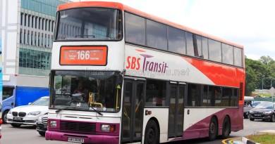 SBS Transit Volvo Olympian 12m (SBS9590E) - Service 166