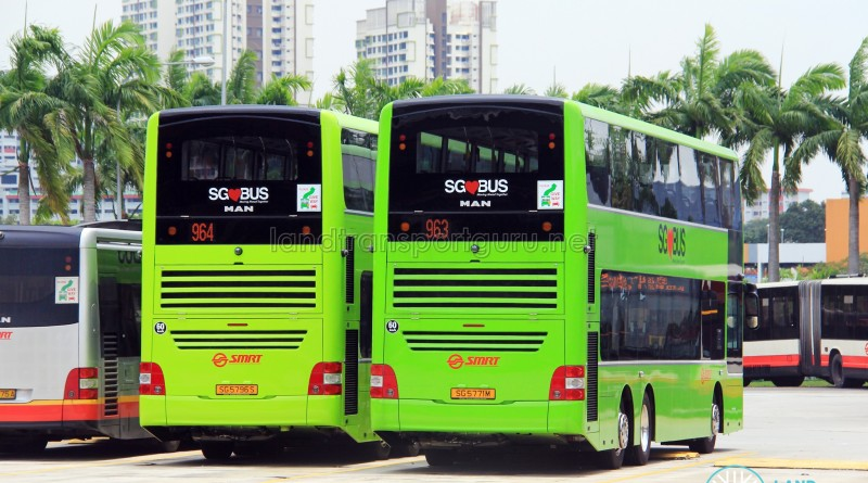 A95s in different shades of Lush green