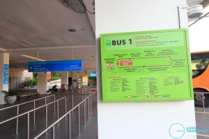 Beach Station Transfer Hub - Bus 1 details