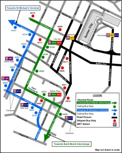 Formula 1 Diversions - Service 131 diversion map