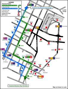 Formula 1 Diversions - Service 133 diversion map