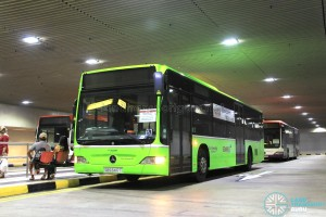Go-Ahead buses laying over at Changi Airport PTB2 Basement