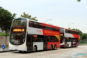 Go-Ahead Volvo B9TLs on Service 85 bunching