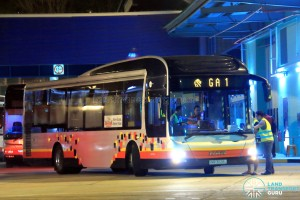 Tower Transit MAN NL323F (SMB3028L) operating on Go-Ahead Employee Bus GA1