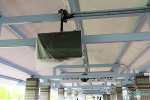 New bus departure timing screens being installed at Pasir Ris Bus Interchange