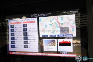 Project Bus Stop - Interactive Screens (Arrival Information and Locality Map)
