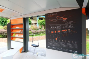 Project Bus Stop - Information Panel, swing and book shelf