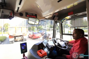 SMRT Bus Captain driving SBS5M, operating on Go-Ahead Service 85