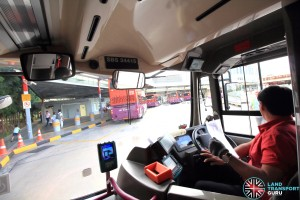 SMRT Bus Captain driving SBS3441S, operating on Go-Ahead Service 85