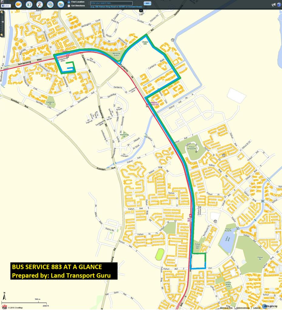 Service 883 map
