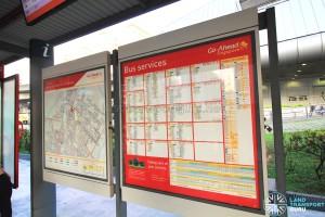 Punggol Interchange Bus Information Board