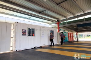 SBS Transit shifted to container offices, making way for Go-Ahead (Aug 2016)