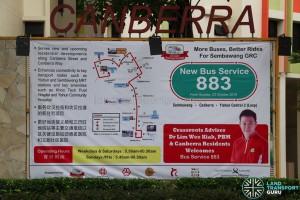 SMRT Bus Service 883 - Sembawang GRC Banner