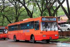 City Bus Mercedes-Benz OH1318 (WFK2123) – Route 15
