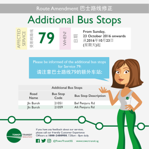 New pair of Bus Stops along Jln Buroh