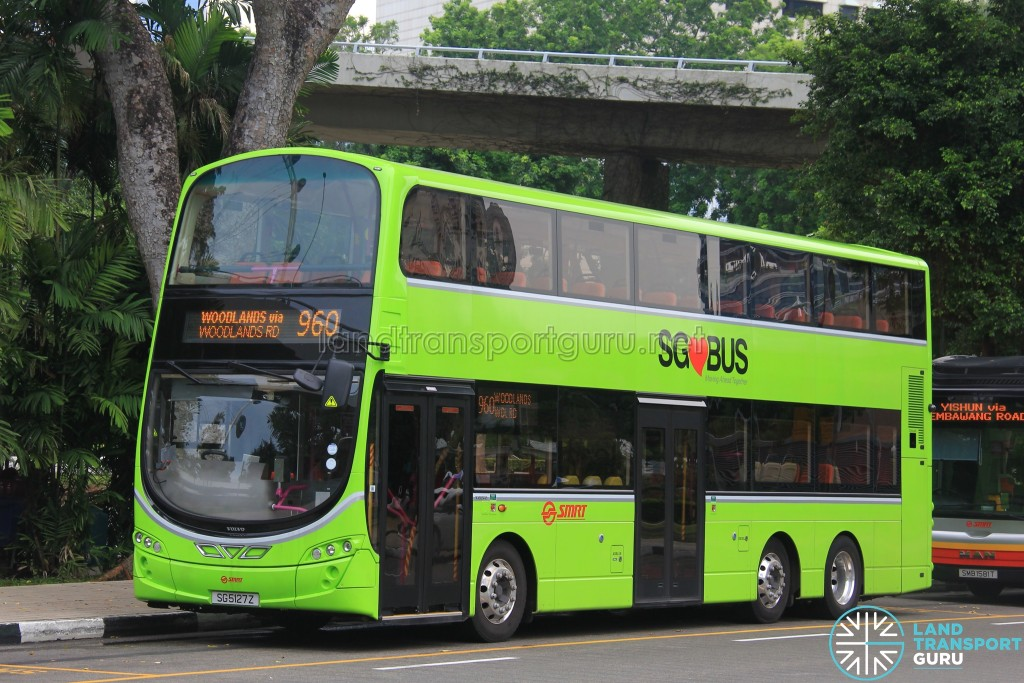 Service 960 is one of 21 bus services under the Woodlands Bus Package