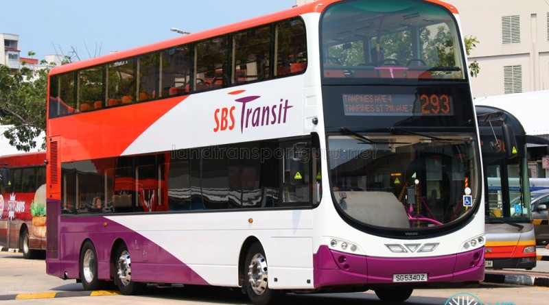 SBS Transit Volvo B9TL Wright - SG5340Z on 293