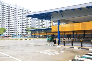 Compassvale Bus Interchange - Vehicle egress along Sengkang Square