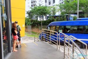 Shuttle Bus queue lines