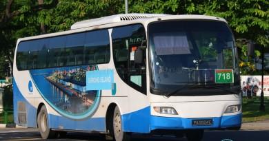 Jurong Island Bus Service 718 - Woodlands Transport Isuzu LT134P (PA9924E)