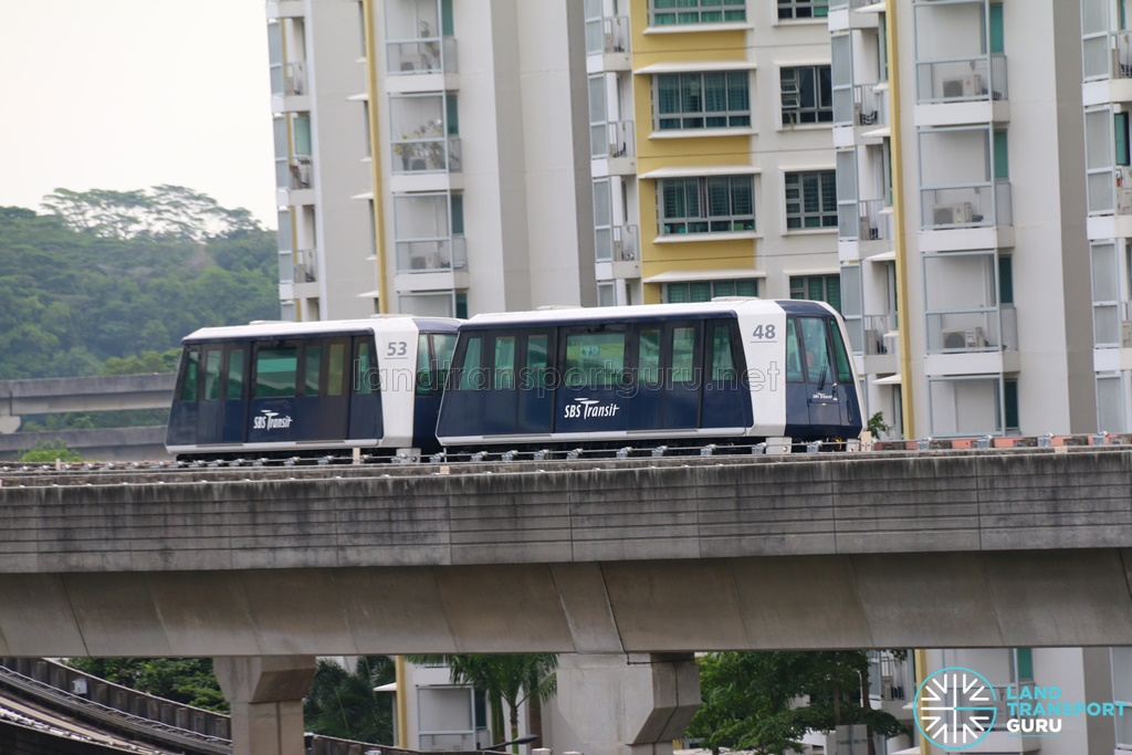 SBS Transit C810A Train in Double-car formation