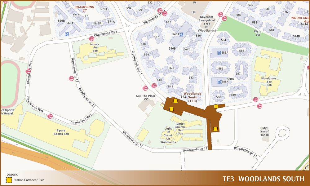 Woodlands South TEL Station Diagram