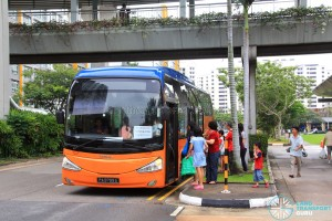 Sengkang MRT Stop for Tampines Retail Park Shuttle