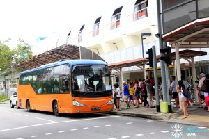 Tampines MRT Stop for Tampines Retail Park Shuttle
