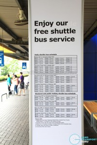 Tampines Retail Park Shuttle timings