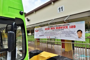 Promotional Banner for New Bus Service 129 (Featuring Mr Heng Chee How)