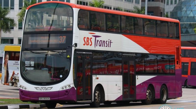 SBST Volvo B9TL Wright (SBS3650E) - Service 37