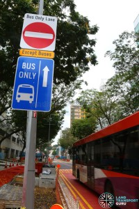 Bus Only lane at Bencoolen Street