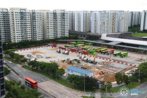 Punggol Temp Int Extension construction progress, Dec 2016