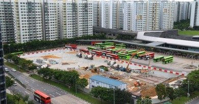 Punggol Temp Int Extension construction progress, Dec 2016
