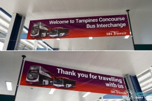Banners for Tampines Concourse Bus Interchange