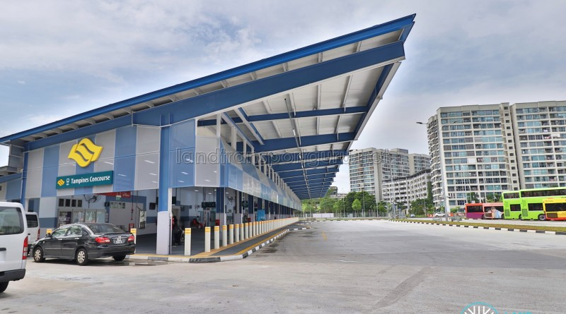 Tampines Concourse Bus Interchange: Exterior Facade, from Tampines Ave 7