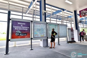 Tampines Concourse Bus Interchange: Information Panels