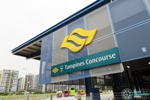 Signage for Tampines Concourse Bus Interchange